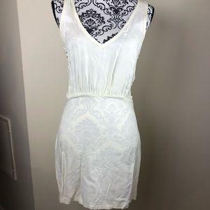 Lulu's ivory crochet back dress